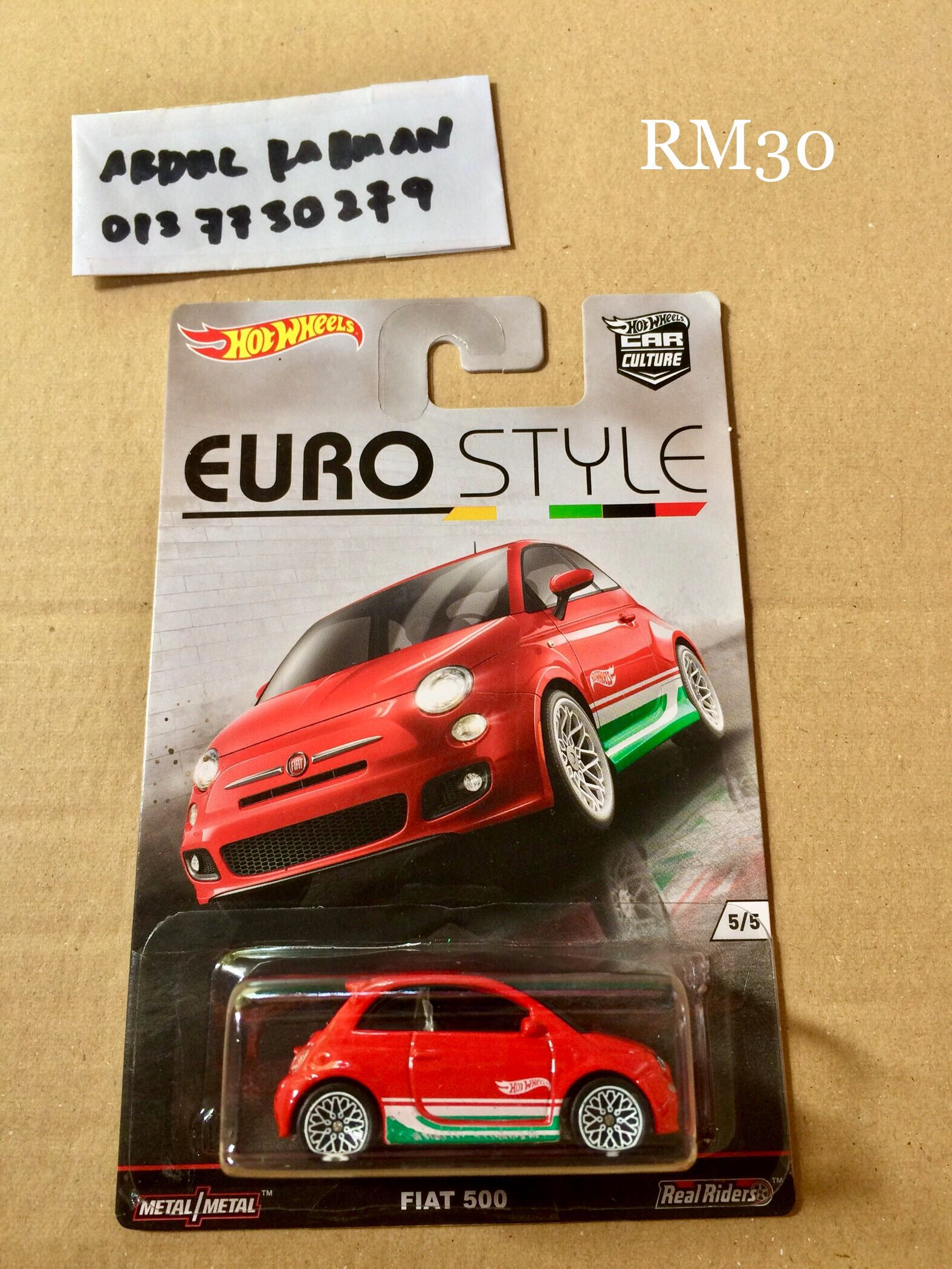 Hot Wheels Fiat 500 Euro Style Car Culture Toys Games Other Toys