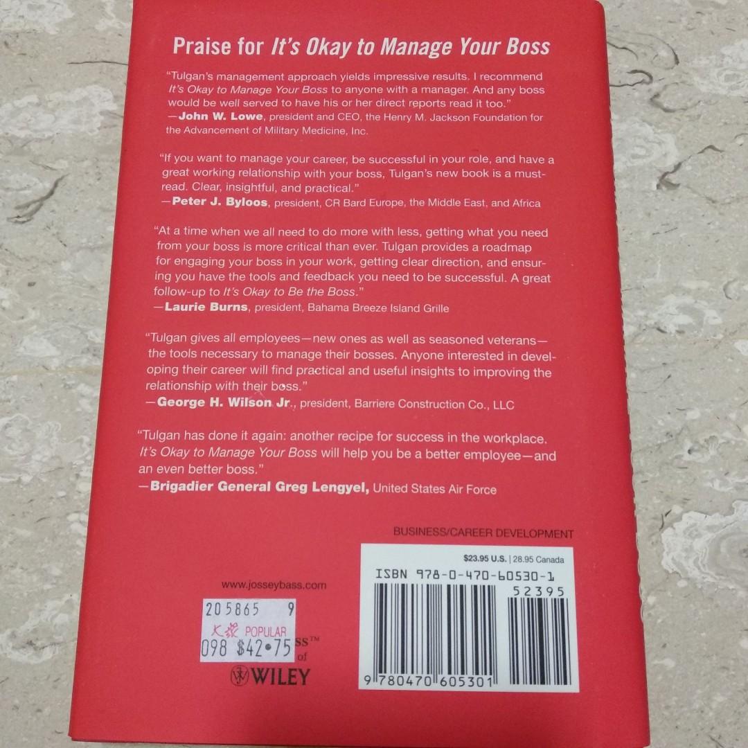 its okay to manage your boss tulgan bruce