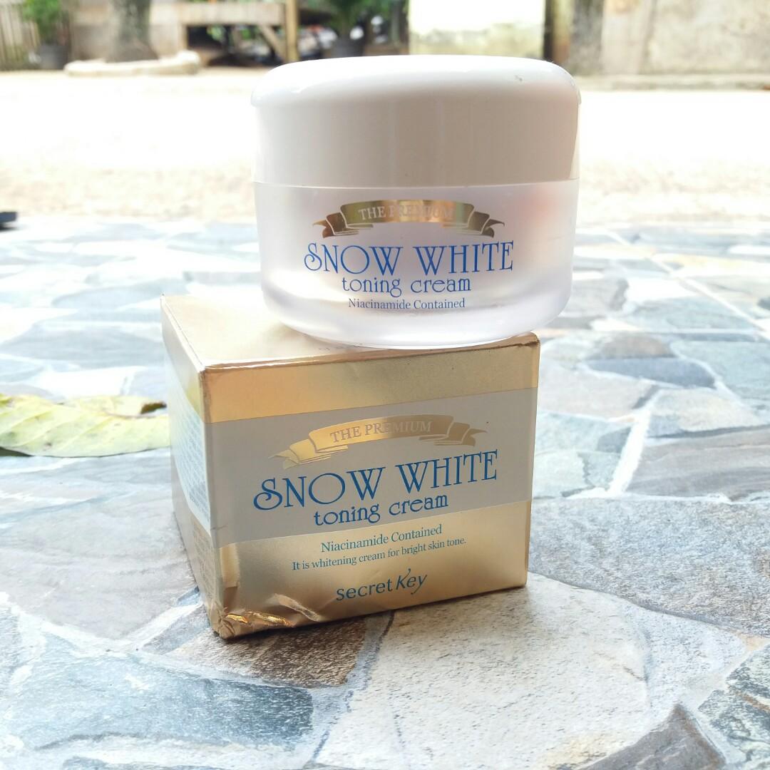 Jual Snow White Toning Cream Premium Secret Key Health Beauty Skin Bath Body On Carousell