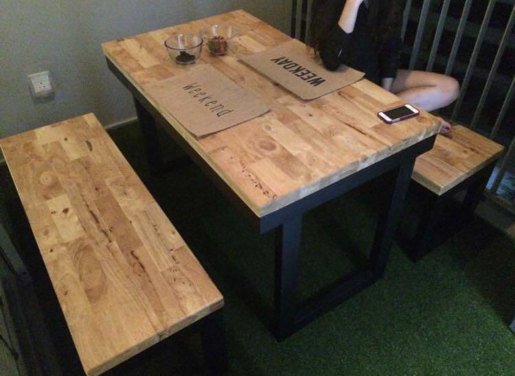 Natural Oak Dining Table Wood Butcher
