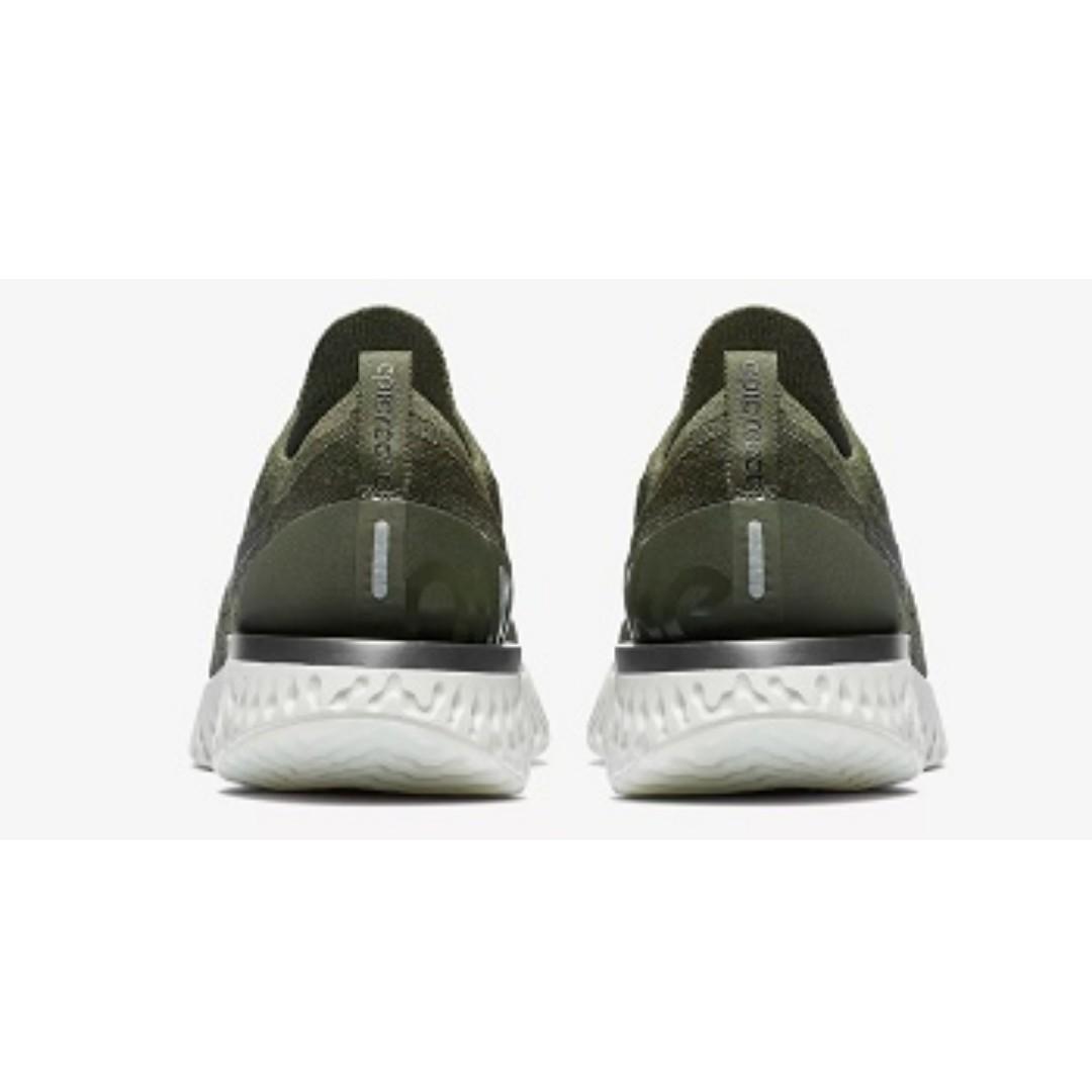 a70ffc112bc0 Nike Epic React Flyknit ( Cargo Khaki Sequoia)