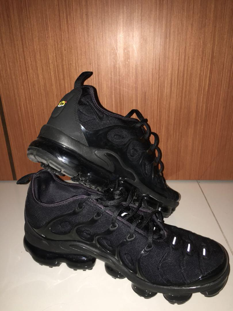 timeless design 1b751 7f065 Nike VaporMax Plus Triple Black, Men's Fashion, Footwear ...