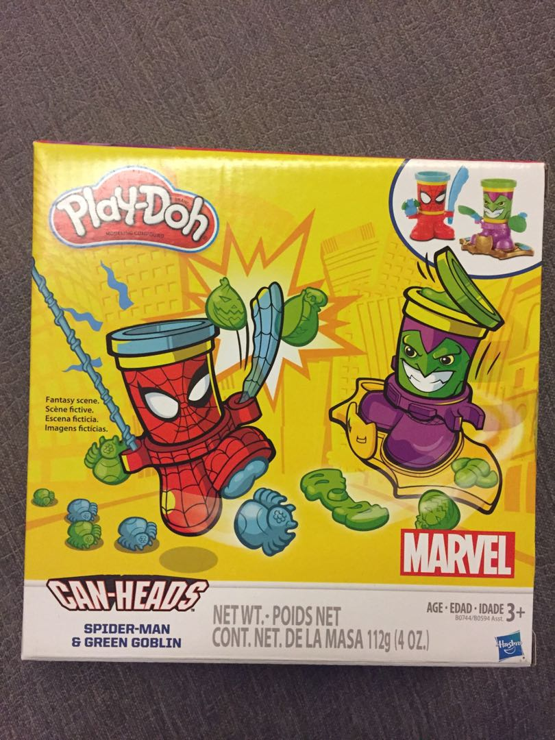 Can-Heads avengers,creative, and Green Goblin Spider-Man Play-Doh Marvel