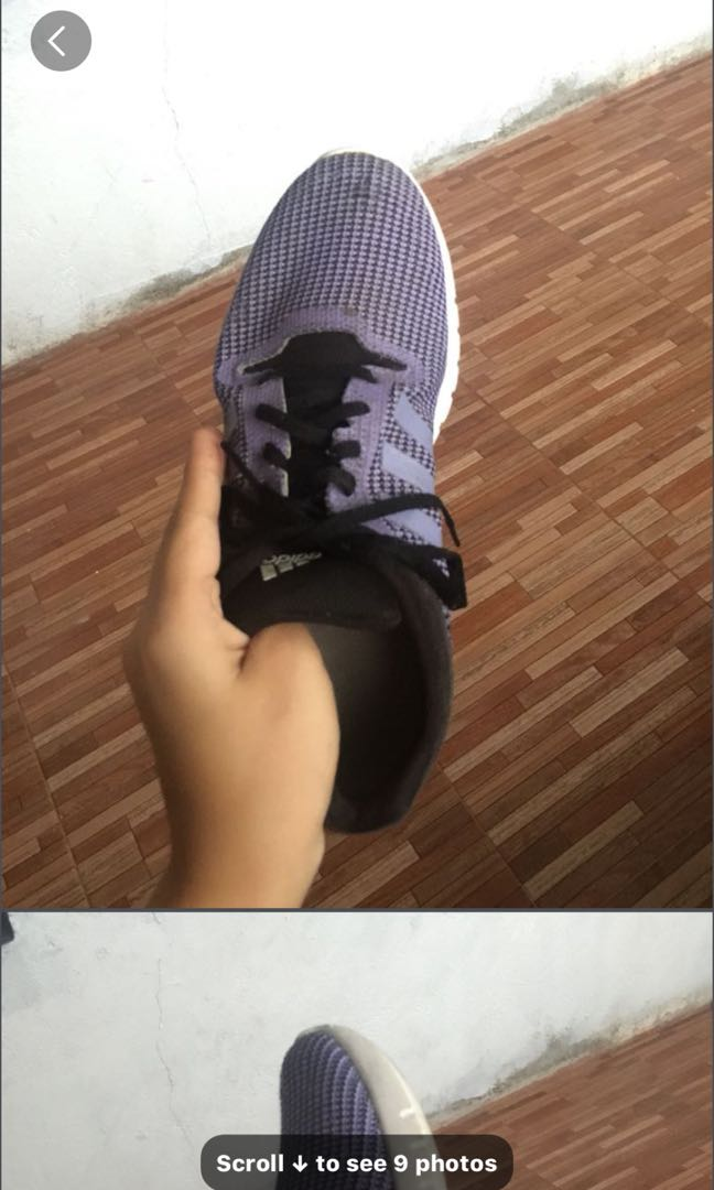 267cd45f8322 PURPLE ADIDAS RUBBER SHOES