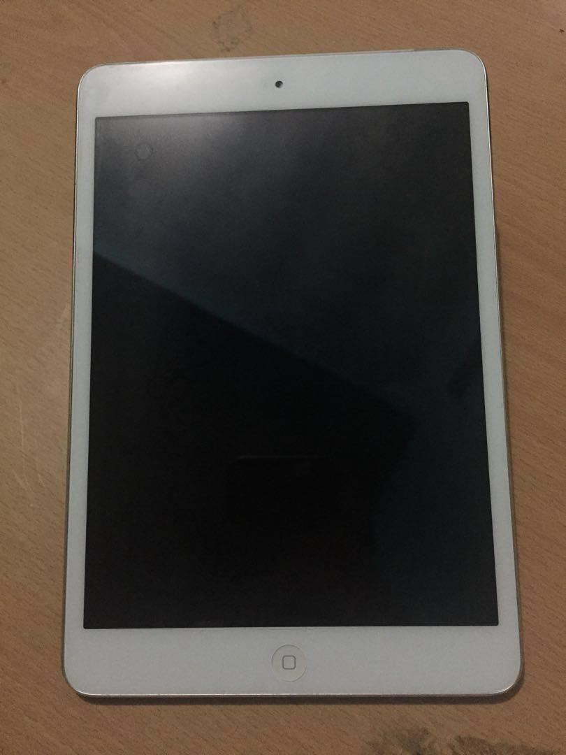 Repriced Ipad Mini 1 16gb Wifi Cellular Smart Lock Last Price White Photo