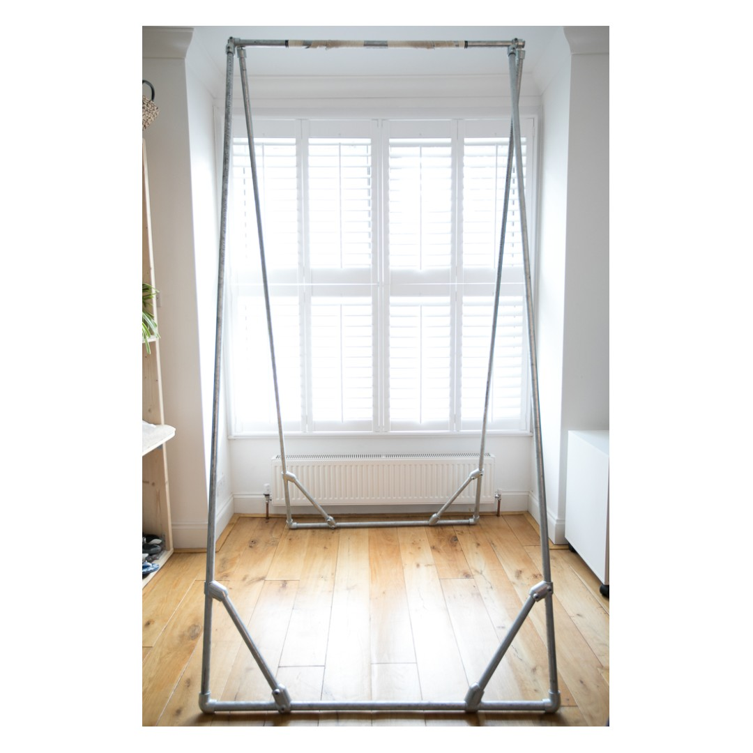 Standalone Pull Up Bar Foldable Fitness Training Home Gym Hanging