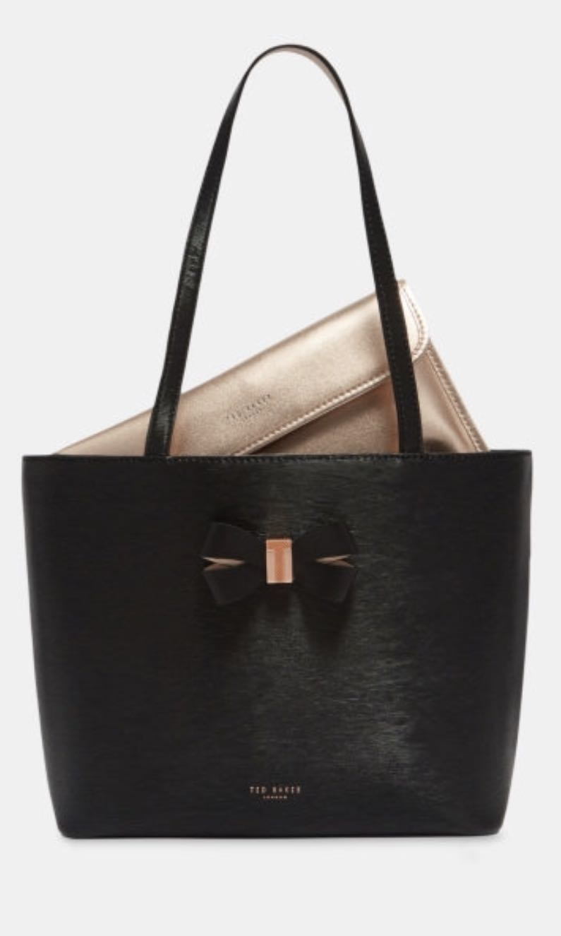 2d224c104a Ted Baker's Bow Detail small leather shopper bag