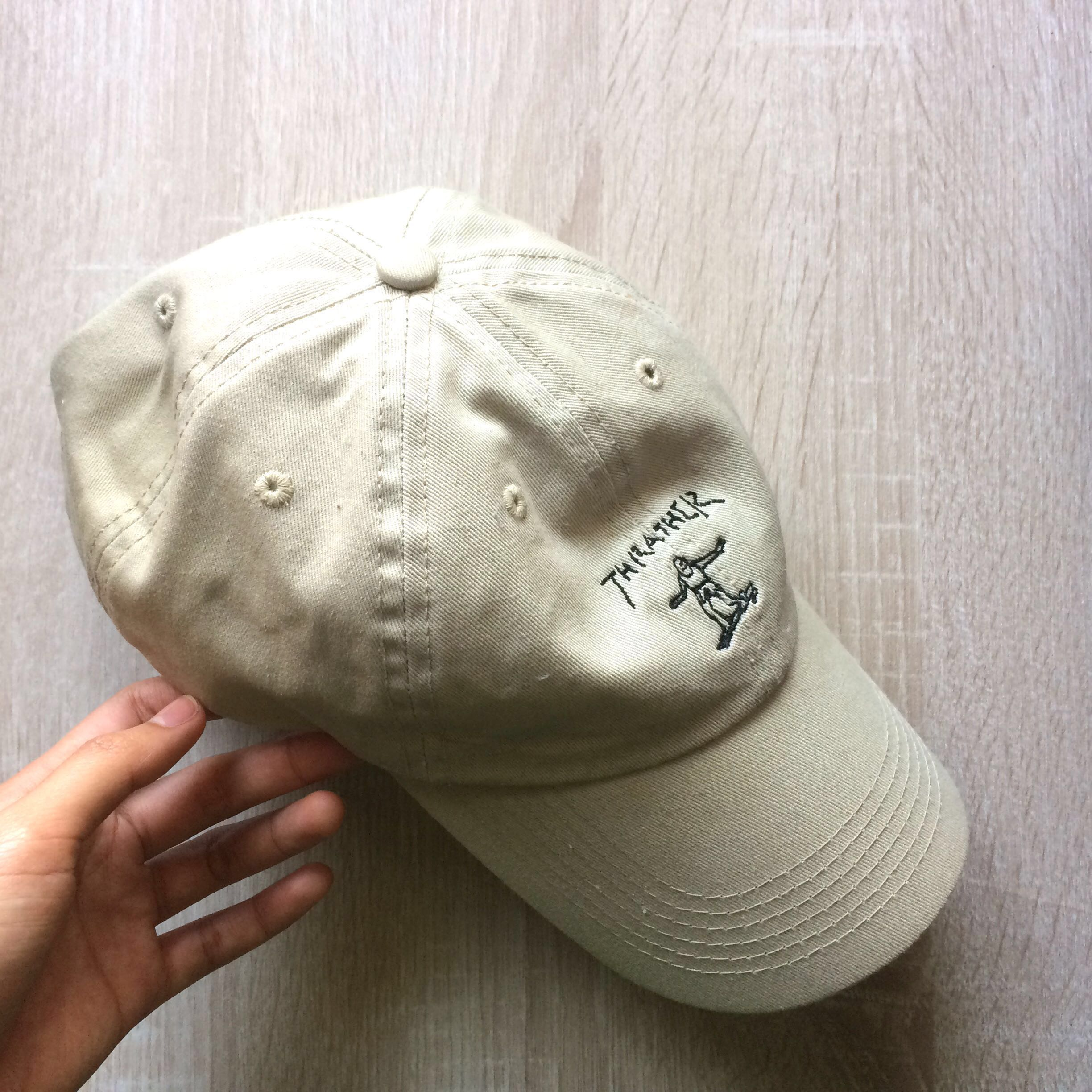 12998a67434 Thrasher X Gonz Old Timer Tan Baseball Hat