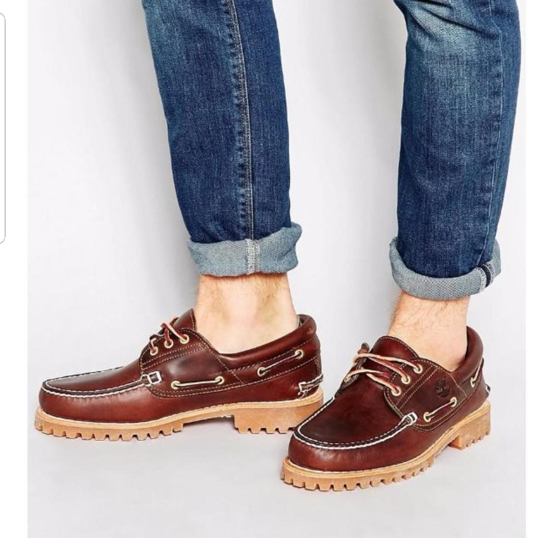 76fda0e14c91 Timberland Classic 3 Eye Lug Burgundy Brown Boat Shoes