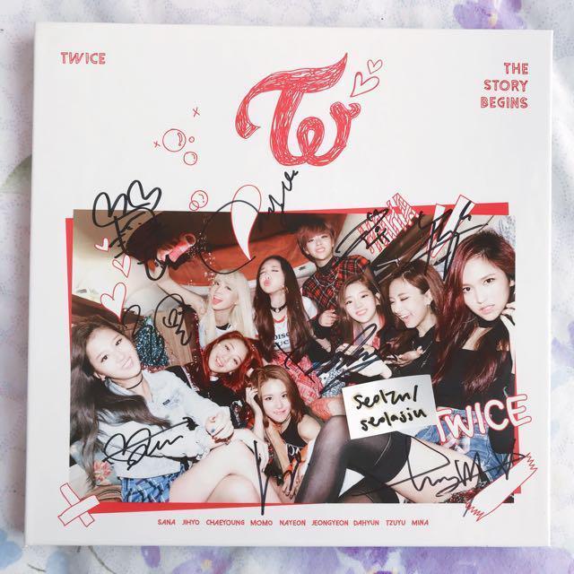 Twice The Story Begins Signed MWAVE Album, Entertainment, K