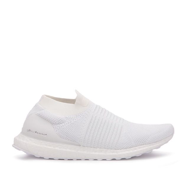 promo code c6dba 91404 UltraBoost Laceless White/Non-Dyed