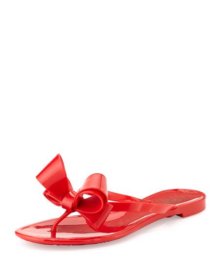 ec52a75e0373 Valentino Couture Bow Jelly Flat Thong Sandal