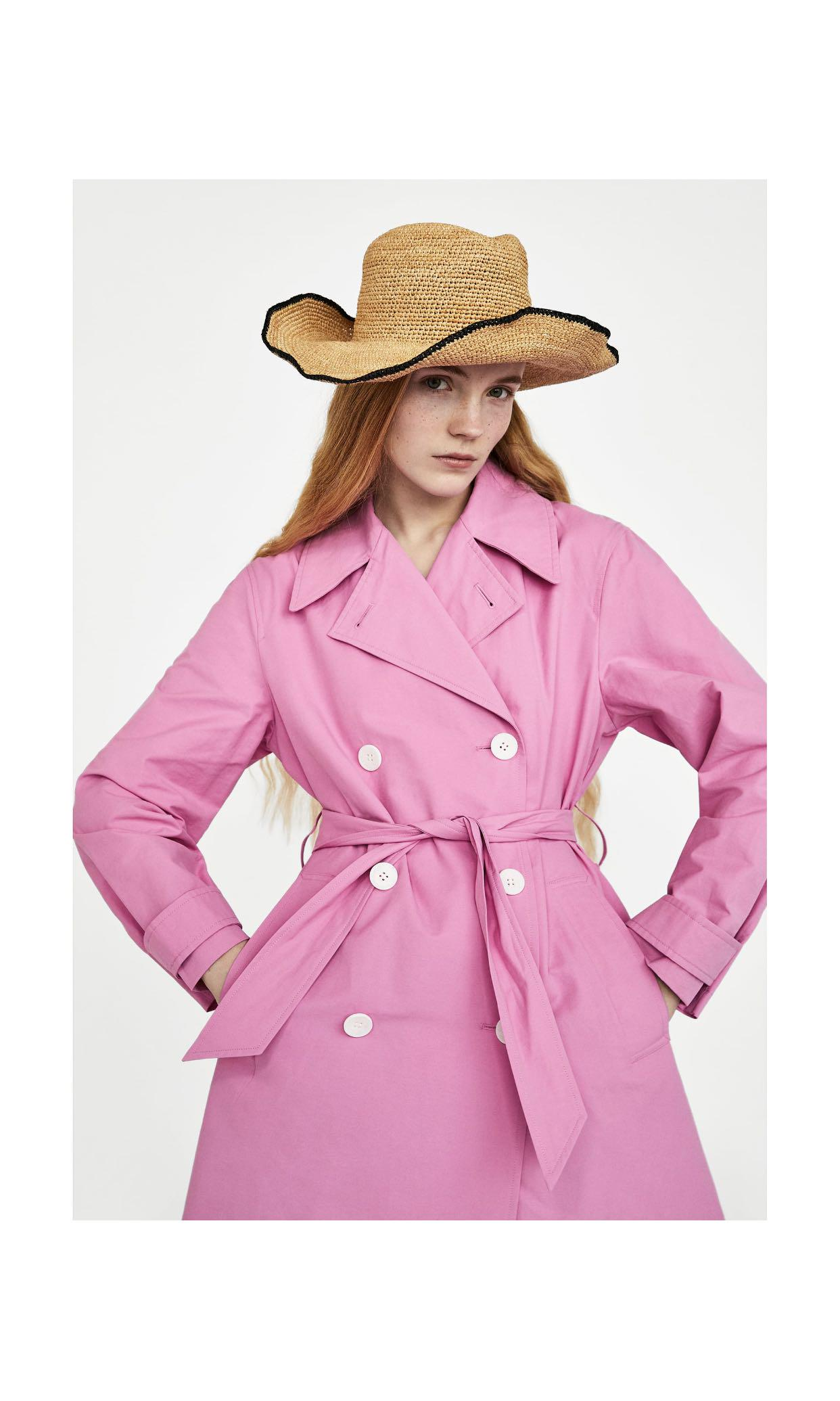 exceptional range of colors new selection beautiful style Zara pink trench coat, Women's Fashion, Clothes, Outerwear ...