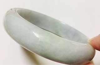 翡翠貴妃手鐲,正圓,天然石脈紋,(58x14x7)mm