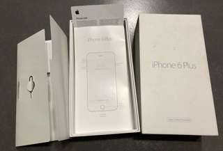 Original Iphone 6+ box and sim injector