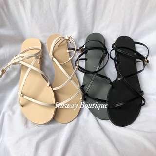 🚚 Ruway. 大推!多條細帶繞繩涼鞋 Amissa mercci22 Miluku
