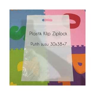 Plastik packing jualan online plastik klip plastik packing plastik ziplock 30x38