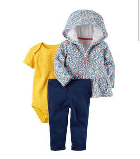 🚚 *9M* BN Carter's 3-Piece Little Jacket Set For Baby Girl #CarouPay