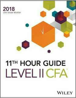 🚚 [Brand New] Wiley 11th Hour Guide for 2018 Level II CFA Exam (Latest Edition)
