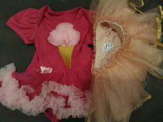 *BRAND NEW* Tutu Romper (Pink) & Tutu Skirt (Peach)