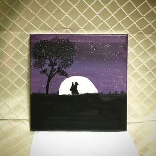 Couple in Love Canvas Painting