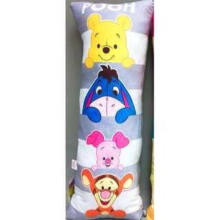 迪士尼 維尼 大抱枕 小熊維尼 跳跳虎 驢子 小豬 長抱枕 Disney Winnie Pooh 全新 現貨 正版