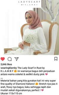 Wearing Klamby Lady Scarf