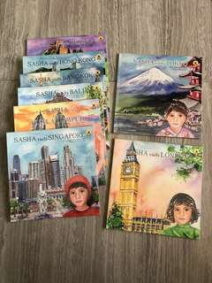 Sasha in Asia & Sasha sees the World (sets of 8 books)
