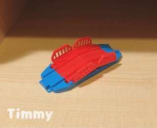 Yujin T-Art 扭蛋火車 扭蛋車 鐵路 鐵道模型 紅色橋