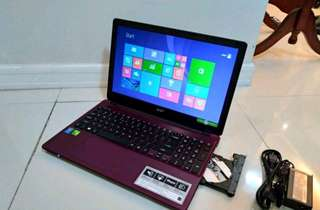 Acer gaming laptop Core i7 8GB Ram 2GB Videocard 1TB HDD 15.6 slim purple E15