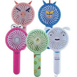 韓國 蠟筆小新充電風扇 USB風扇 手提 fan