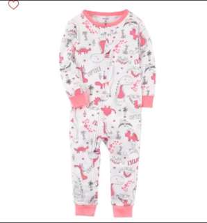 🚚 *12M* Brand New Carter's Snug Fit Cotton Footless PJs For Baby Girl #CarouPay