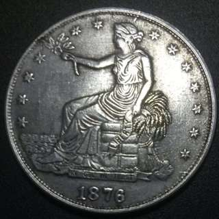 United States of America 1876S Seated liberty 38.5mm 25.6gm