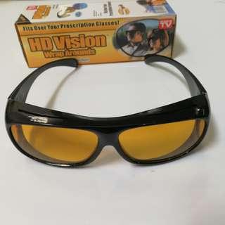 🚚 【#幫你省運費】 熱銷 HD Vision Wrap Arounds 太陽鏡 多功能眼鏡 夜視鏡