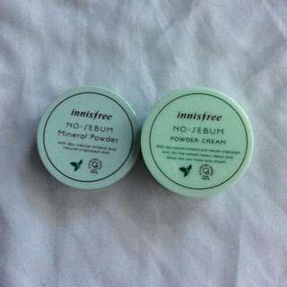 Innisfree No-Sebum Mineral Powder & Powder Cream
