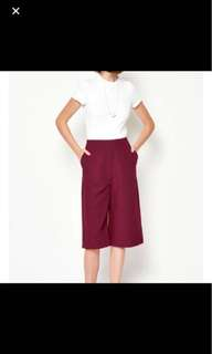 Love and bravery lab krin wide legged culottes maroon