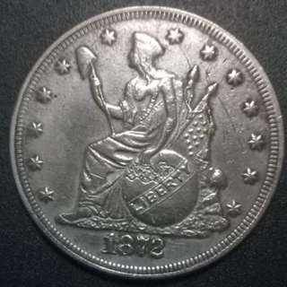 United States of America 1872 Seated Liberty 37.5mm 25.2gm