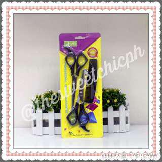 Salon Hair Cut Scissors And Comb Set