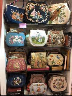 La BLANCHE Vintage purse bag handbag 十字繡花古董 復古 手袋
