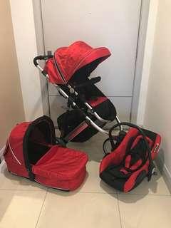 Perreno versatile stroller set