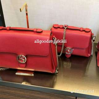 ❤SALE❤Gucci GG Interlocking Leather Bag  Size L (Authentic)