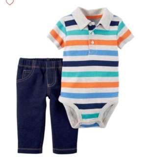 🚚 *24M* BN Carter's 2-Piece Bodysuit Pant Set  For Baby Boy #CarouPay