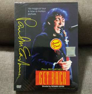 arthdvd PAUL MCCARTNEY (THE BEATLES) Get Back 21-Track Movie Concert DVD