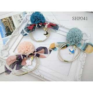 【Her Majesty的秘密花園】正韓貨卡通愛麗絲布花球髮束髮圈髮飾SHP041
