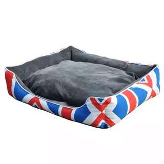 UK Flag Pet Bed with Removable Cushion
