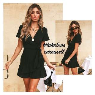 INSTOCKS Miranda wrap over dress - black