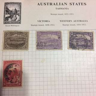 Stamp - Tasmania 1899-1900 - Hobart Town (set of 4)
