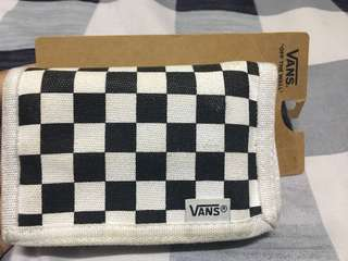 Vans Checkerboard Wallet with padin musa sign