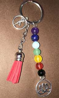 7 Color gemstone Key Chain