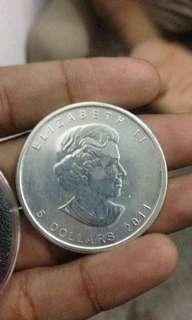 silver coin 9999 canada 2011..